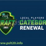 PSL 6 Draft Local Players 2021